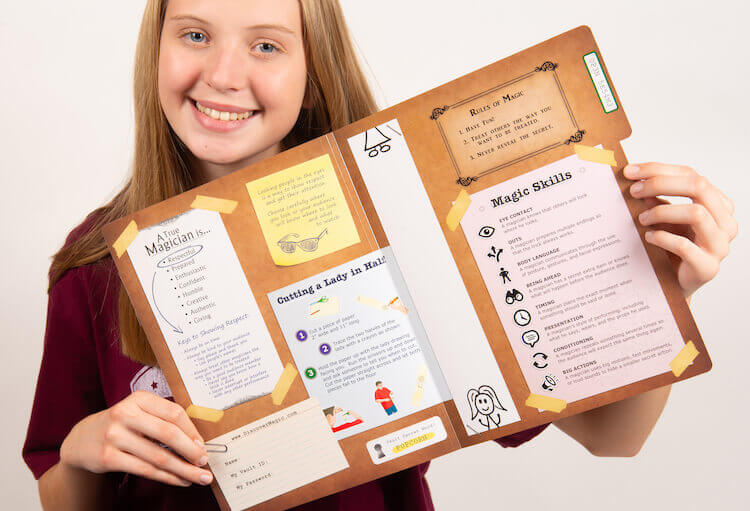 Girl With Discover Magic File Folder